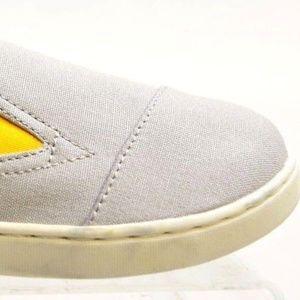 Youth TOM'S Gray CANVAS Slip on Shoe Sz 13